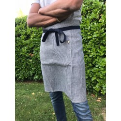 TABLIER MIXTE - NAVY STRIPE - SANS BAVETTE